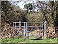 SO7394 : Kissing gate on footpath north-east of Bridgnorth, Shropshire by Roger  Kidd