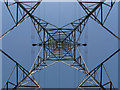 TQ0353 : Pylon, West Clandon by Alan Hunt