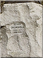 SJ8189 : Cromwell Statue, Inscription by David Dixon