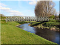 SJ8291 : River Mersey, Bridge at Chorlton Water Park by David Dixon