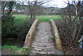 SY4793 : Footbridge over the River Asker by N Chadwick