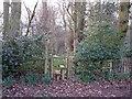 SJ8267 : Start of footpath north of Clonterbrook Farm by Richard Dorrell