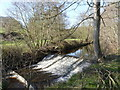 SK2890 : River Loxley weir by Alan Murray-Rust