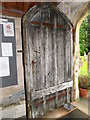 ST9383 : Door, The Church of the Holy Rood by Miss Steel