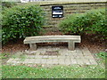 SK3586 : St Mary, Sheffield: bench by Basher Eyre