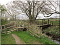 NY3359 : A footbridge near to Wormanby Farm by Ian S