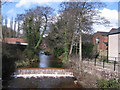 SK3289 : Weir in the River Loxley at Malin Bridge by Rudi Winter