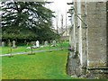 SP1106 : North churchyard, Church of St Mary, Church Road, Bibury, Gloucestershire by Brian Robert Marshall
