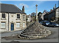 SK2758 : Village cross, Bonsall by Andrew Hill