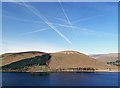 NT2421 : Contrails over St Mary's Loch by Walter Baxter