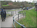 SK3990 : Footpath link joins the Sheffield & Tinsley Canal by Robin Stott