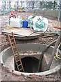 SP3165 : Access chamber to new storm water sewer by Robin Stott