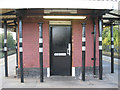 SP1479 : Cast-iron columns, Solihull station: 1 by Robin Stott