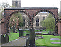 SJ8745 : Stoke-upon-Trent - Minster churchyard by Dave Bevis