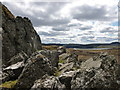 NS4980 : Basalt boulders next to The Whangie by Alan O'Dowd