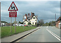 SJ5559 : Beeston Castle pub on A49 north by John Firth
