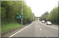 SJ5563 : Utkinson road bridge over A49 north by John Firth