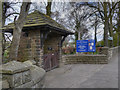 SD7732 : Lychgate and War Memorial by David Dixon