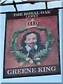 TQ4110 : The Royal Oak sign by Oast House Archive