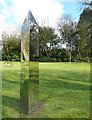SW9175 : Shiny obelisk, Prideaux Place garden by Rob Farrow