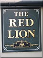 TQ6104 : The Red Lion sign by Oast House Archive