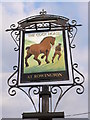 SP2068 : The Cock Horse Inn Pub Sign by Nigel Mykura