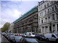 TQ2578 : Scaffolding Pennywern Road Earls Court London by PAUL FARMER