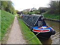 SJ5341 : Working Narrow Boat Hadar moored in the Whitchurch Arm by Keith Lodge