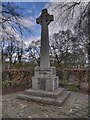 SD7732 : War Memorial and Churchyard, St James' Church Altham by David Dixon