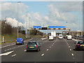 SD5632 : M6 Northbound, Junction 31A by David Dixon