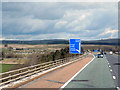 NY6104 : M6 Northbound, Junction 38 by David Dixon