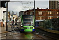 TQ3165 : Stadler Rail Variobahn Tram at Reeves Corner, Croydon by Peter Trimming