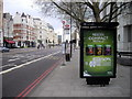 TQ2978 : Bus stop in Vauxhall Bridge Road London by PAUL FARMER