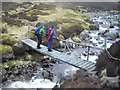 NH6501 : Foot bridge on the Allt Fionndrigh by Callum Black