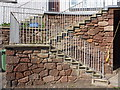 NT6879 : East Lothian Architecture : Detail of Steps at 3-9 Victoria Place, Dunbar by Richard West