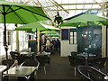 SX6356 : The Riverbank Cafe, Glanville's Mill Arcade, Ivybridge by Ruth Sharville