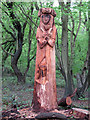 TQ4793 : Hainault Forest Tree Sculpture (5) by Roger Jones