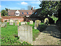 TL7452 : Path through St Margaret's churchyard, Stradishall by Evelyn Simak