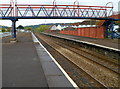 ST1586 : Footbridge across Caerphilly railway station by John Grayson