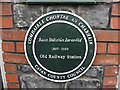 H3616 : Plaque at Belturbet old railway station by Kenneth  Allen