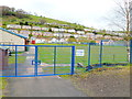 ST1190 : Welfare Ground entrance gate, Senghenydd by John Grayson