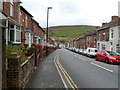 ST1289 : High Street houses, Abertridwr by John Grayson