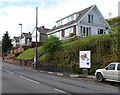 ST1388 : Houses set above road level in the SE side of Abertridwr by John Grayson