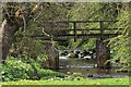 SK0957 : Footbridge over Warslow Brook by Mick Garratt
