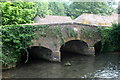 SP1206 : Bridge over the Coln by Bibury mill by Philip Jeffrey