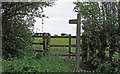 TM1830 : Footpath entrance to pasture by Roger Jones