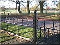 SP1267 : Railings, Church of St Mary the Virgin by Robin Stott