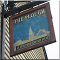 TQ8209 : The Plough sign by Oast House Archive
