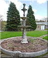 NZ1062 : Ornamental fountain, Prudhoe Hospital by Andrew Curtis