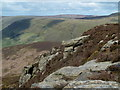 SK1387 : Rocky outcrop, Rowland Cote Moor by Andrew Hill